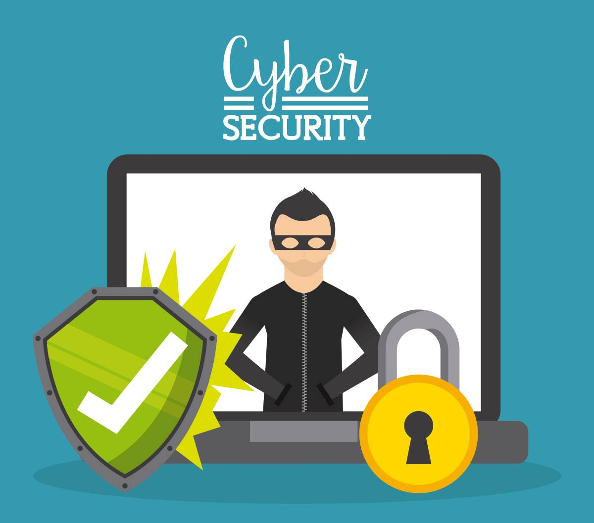 Cybersecurity illustration